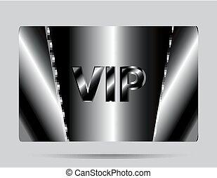 カード, vip, 黒い背景