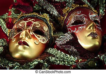 カーニバル, マスク, 華やか