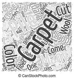 カーペット, 概念, 単語, 雲, 選択