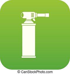ガスポンプ, アイコン, 緑, デジタル