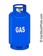 ガス, プロパン, cylinder.