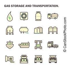 ガス, 交通機関, アイコン