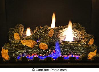 ガス, 暖炉