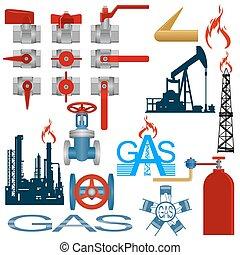 ガス, 産業, 生産, セット