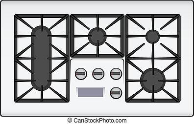 ガス, 調理器