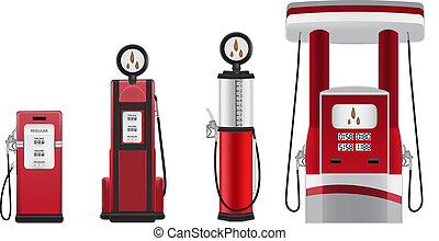 ガソリン, ベクトル, ポンプ, イラスト