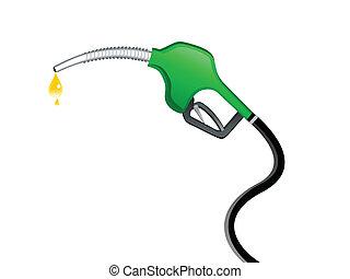 ガソリン, 抽象的, ポンプ, アイコン