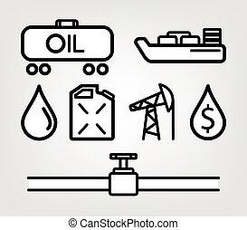 ガソリン, 燃料, オイル, アイコン