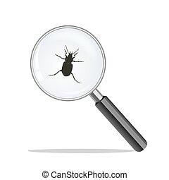 ガラスを拡大しなさい, そして, bug., ウイルス, 概念