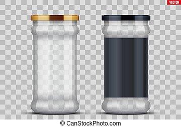 ガラスジャー, 缶詰になること, 透明, preserving.