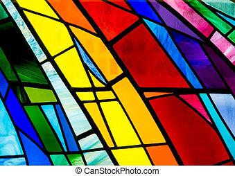 ガラス, しみ, カラフルである