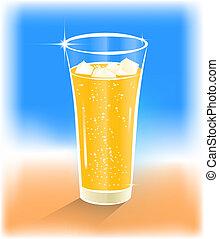 ガラス, の, 範囲, ジュース, ∥で∥, 氷