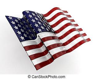 ガラス, アメリカの旗