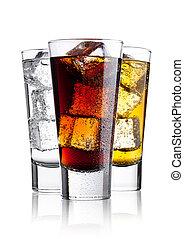 ガラス, エネルギー, 飲みなさい, 光っていること, コーラ, 水