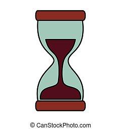 ガラス, カウンター, 時間, 時間, アイコン