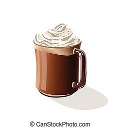 ガラス, コーヒー 飲み物, カフェ, mocha