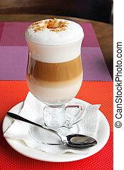 ガラス, コーヒー, latte