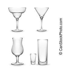 ガラス, セット, カクテル