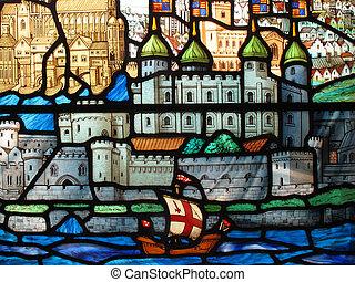 ガラス, タワー, 汚された, ロンドン