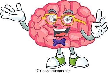 ガラス, デザイン, geek, 身に着けていること, 脳, 漫画, 気味が悪い, 特徴