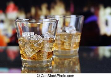 ガラス, バー, ウイスキー