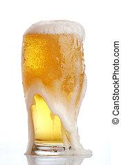 ガラス, ビール, クローズアップ