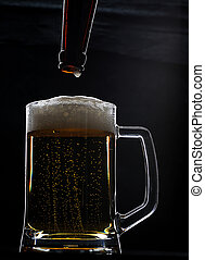 ガラス, ビール, フルである