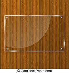 ガラス, フレーム, 木, 背景