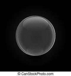 ガラス, ベクトル, 球