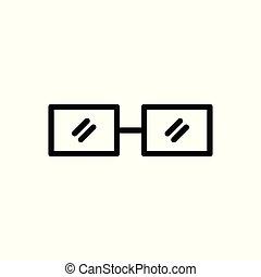 ガラス, ベクトル, 白, 隔離された, icon., バックグラウンド。, クラシック, アウトライン, illustration.