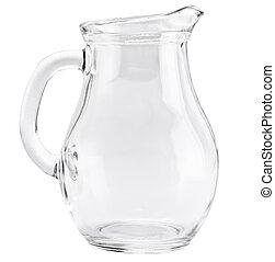 ガラス, ホワイト backg, 水差し, 隔離された