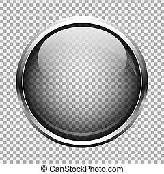 ガラス, ボタン, 透明