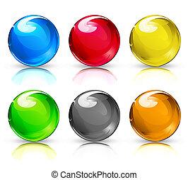 ガラス, ボール