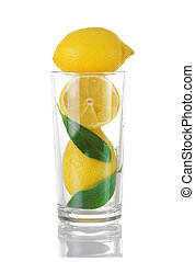ガラス, レモン