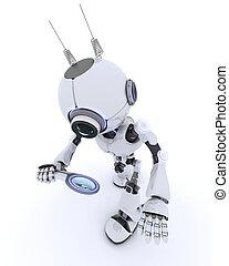 ガラス, ロボット, 拡大する