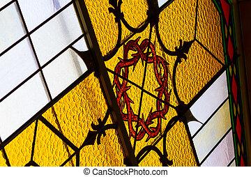 ガラス, 中, 汚された, 詳細, 教会
