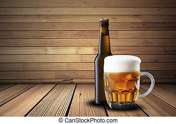 ガラス, 冷たいビール