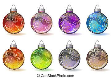 ガラス, 別, ボール, クリスマス