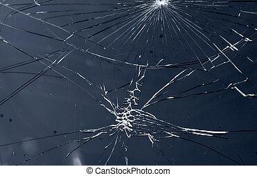 ガラス, 割れた
