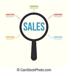 ガラス, 単語, 販売, 拡大する