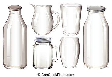 ガラス, 容器