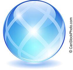ガラス, 抽象的, ボール