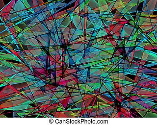 ガラス, 抽象的, 分解する