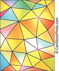 ガラス, 抽象的, 幾何学的, カラフルである