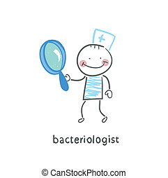 ガラス, 拡大する, bacteriologist