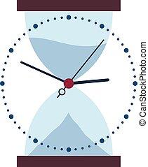 ガラス, 時間, 変化する, 時間, 時計