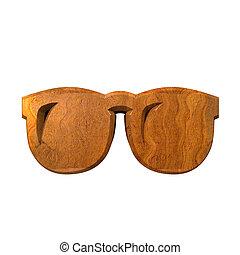 ガラス, 木, 3d