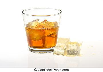 ガラス, 氷, ウイスキー