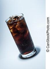 ガラス, 氷, コーラ