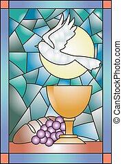 ガラス, 汚された, 聖餐